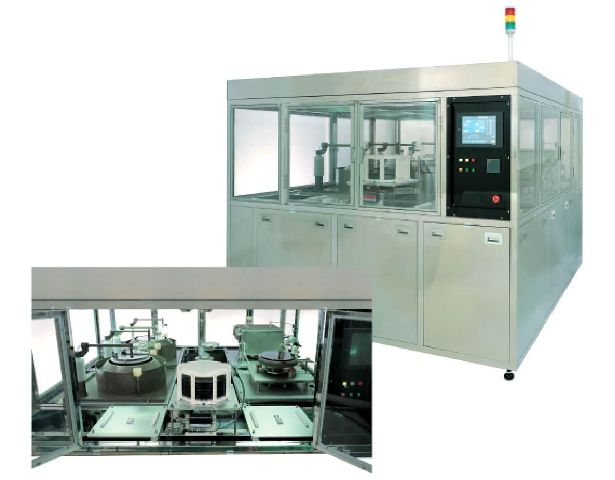 枚葉式自動洗浄装置 スプレータイプ